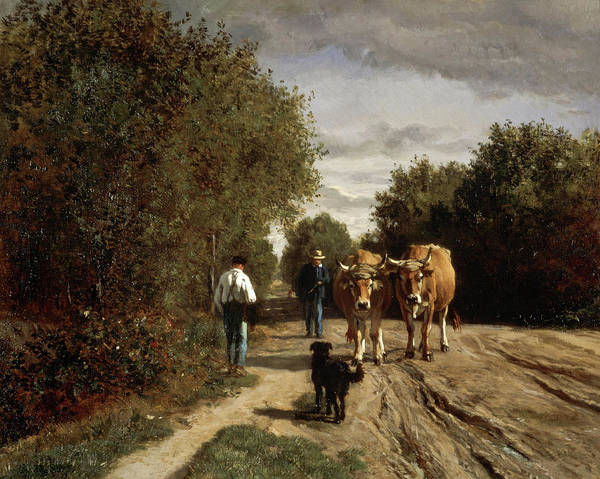 Wall Art - Painting - Return From Work, 1855 by Constant Troyon