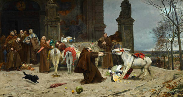 Painting - Return To Monastery by Eduardo Zamacois y Zabala