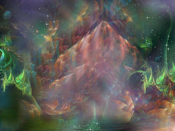Fractal Landscape Digital Art - Return To Sugar Mountain by Phil Sadler