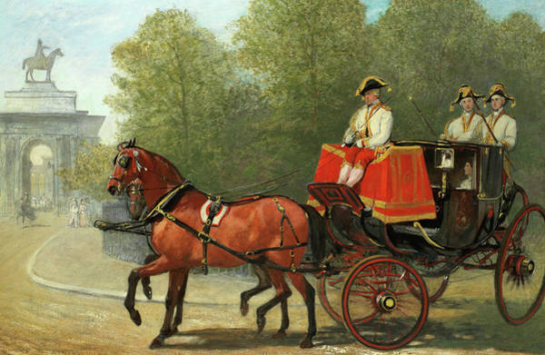 Wall Art - Painting - Returning From Her Majesty's Drawing-room, Hyde Park Corner by Alfred Corbould
