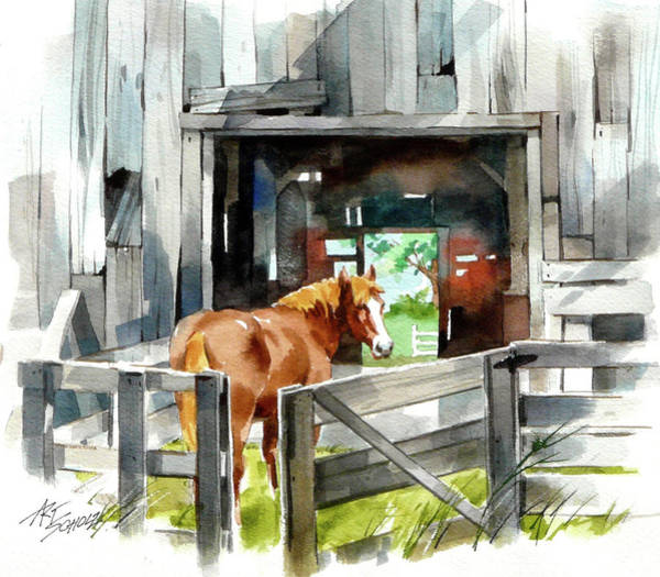Returning Home Art Print by Art Scholz