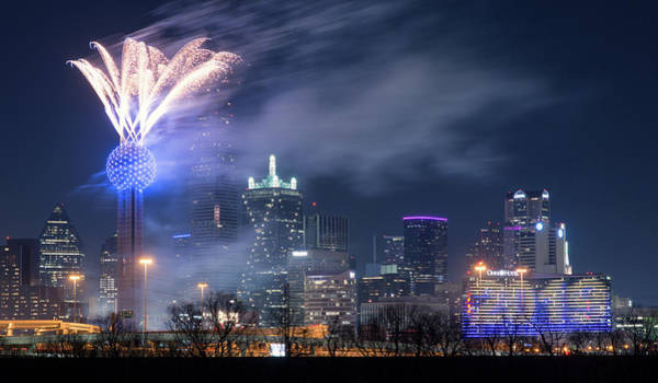 Photograph - Reunion Tower Nye Dallas 010119 by Rospotte Photography