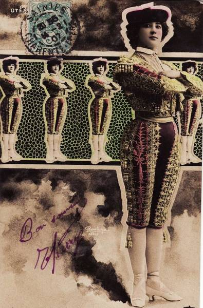 Postmark Painting - Reutlinger Postcards  Carolina Otero   La Belle Otero 1 by Celestial Images