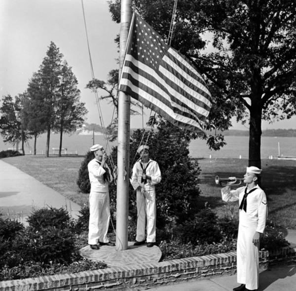 Usa Navy Photograph - Reveille by Grundy
