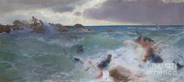 Siren Painting - Revenge Of The Centaurs by Benes Knupfer