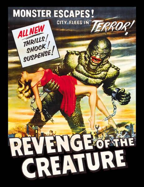 Lagoon Digital Art - Revenge Of The Creature Movi Poster by Filip Hellman