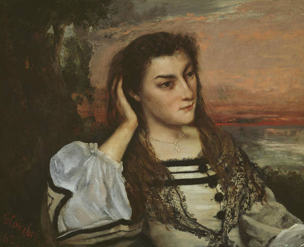 Wall Art - Painting - Reverie by Gustave Courbet