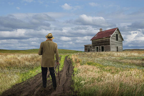 Photograph - Revisiting The Old Homestead by Randall Nyhof