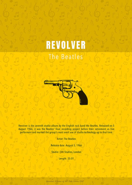 Wall Art - Mixed Media - Revolver The Beatles Greatest Albums Of All Time Minimalist Series by Design Turnpike