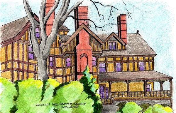 Wall Art - Drawing - Reynolds Hall by Paul Meinerth