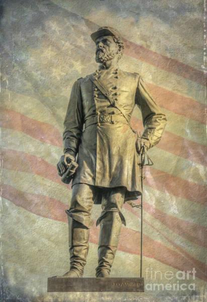 Wall Art - Digital Art - Reynolds Statue National Cemetery Gettysburg by Randy Steele