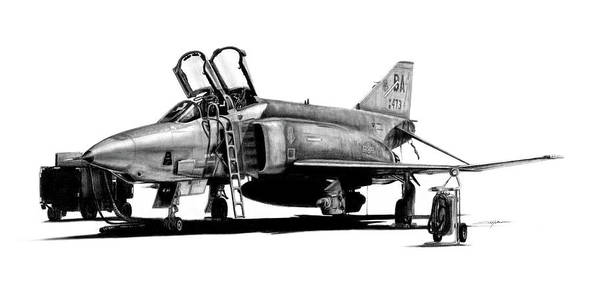 Vietnam Drawing - Rf-4c Phantom II by Dale Jackson