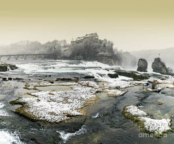 Rhine River Photograph - Rhine Falls Winter Evening by DiFigiano Photography