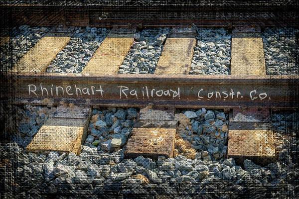 Wall Art - Photograph - Rhinehart Railroad Construction Co by Brian Wallace