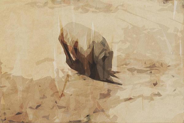 Wall Art - Digital Art - Rhino Wild Africa Rhinoceros by Draw Sly
