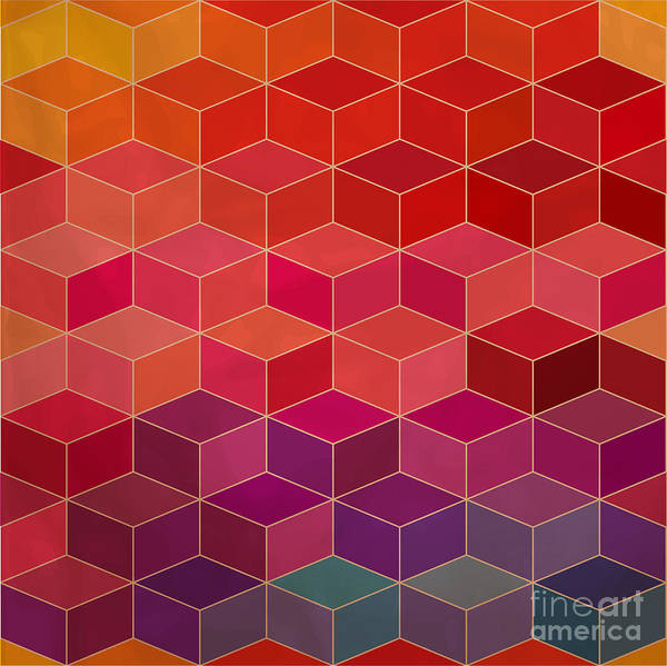 Wall Art - Digital Art - Rhombic Seamless Pattern.seamless by Markovka