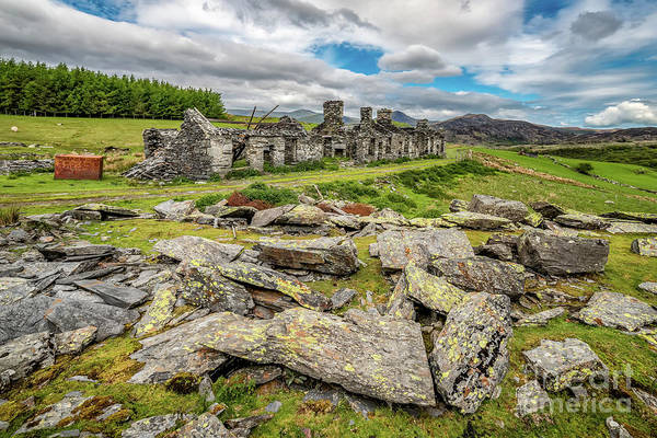 Wall Art - Photograph - Rhos Quarry Cottages Snowdonia by Adrian Evans