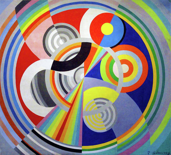 Wall Art - Painting - Rhythm N1, Decoration For The Salon Des Tuileries - Digital Remastered Edition by Robert Delaunay