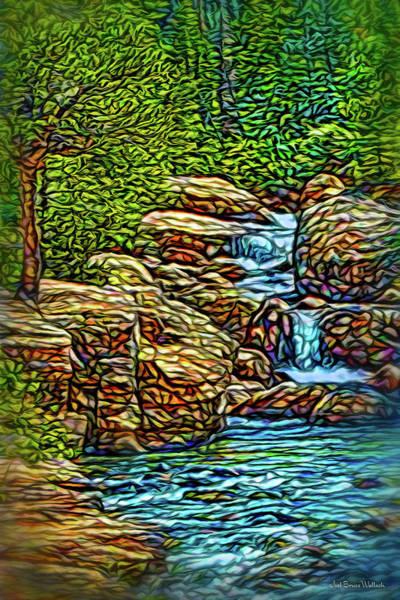 Rockies Digital Art - Rhythm Of The Waterfalls by Joel Bruce Wallach