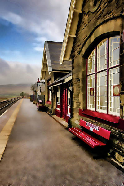 Station Wall Art - Mixed Media - Ribblehead Railway Station Digital Painting by Smart Aviation