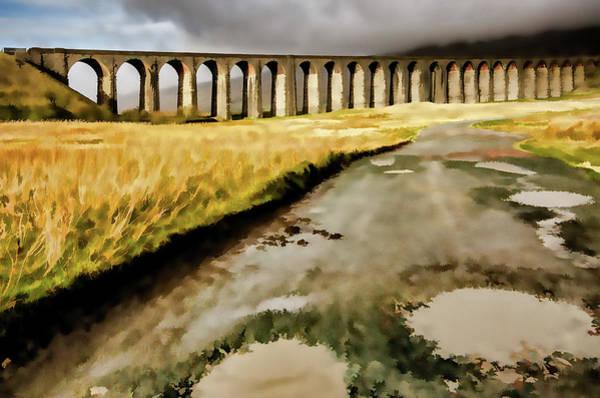 Wall Art - Mixed Media - Ribblehead Viaduct Digital Painting by Smart Aviation
