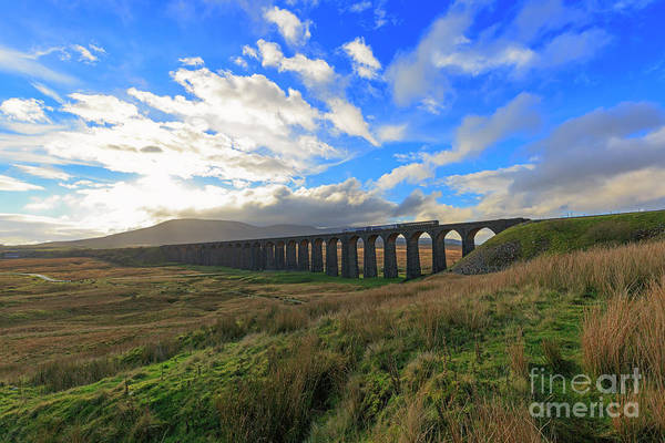 Taper Photograph - Ribblehead Viaduct Settle Carlisle Railway Line by Louise Heusinkveld