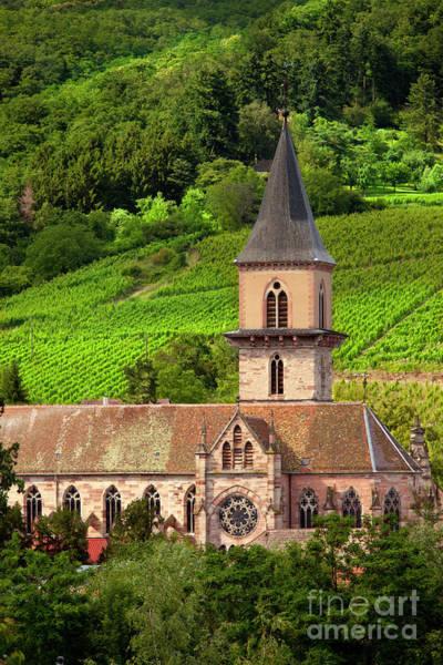 Photograph - Ribeauville Church by Brian Jannsen