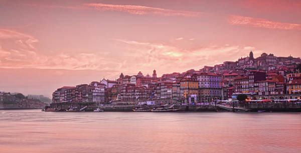 Douro Wall Art - Photograph - Ribeira Sunset Oporto by All Rights Reserved - Copyright