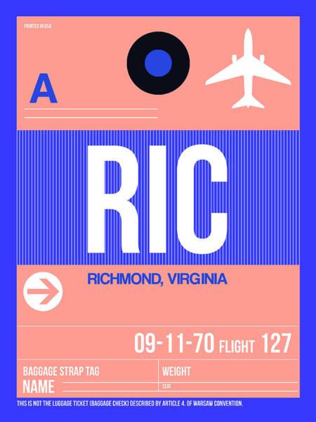 Wall Art - Digital Art - Ric Richmond Luggage Tag Iric Richmond Luggage Tag I by Naxart Studio