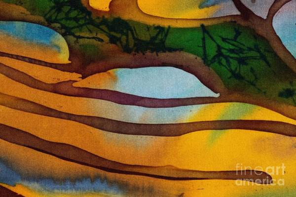 Wall Art - Digital Art - Rice Terraces, Fragment, Hot Batik by Sergey Kozienko