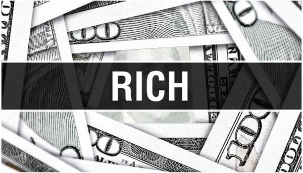 Insurance Digital Art - Rich. American Dollars Cash Money. Rich At Dollar Banknote. Financial Usa Money Banknote Commercial by Borka Kiss