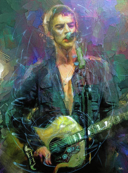 Frontman Wall Art - Mixed Media - Richard Ashcroft, The Verve by Mal Bray