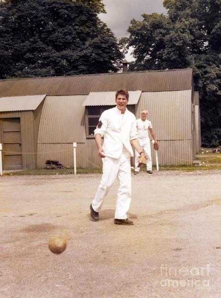 Photograph - Richard Gere - Playing Baseball On Set Of Yanks - 1979 by Doc Braham