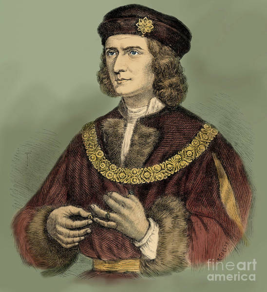 Wall Art - Drawing - Richard IIi Of England Portrait by English School