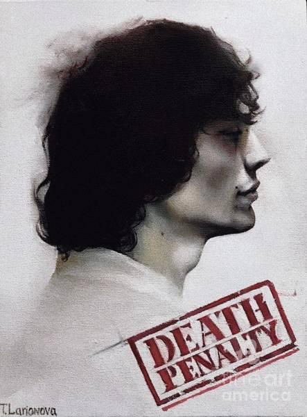 Serial Killer Painting - Richard Ramirez Case Closed  by Tania Larionova
