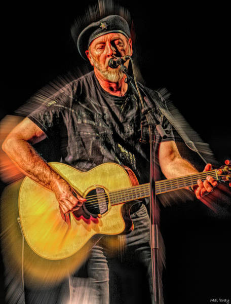 Folk Singer Mixed Media - Richard Thompson by Mal Bray