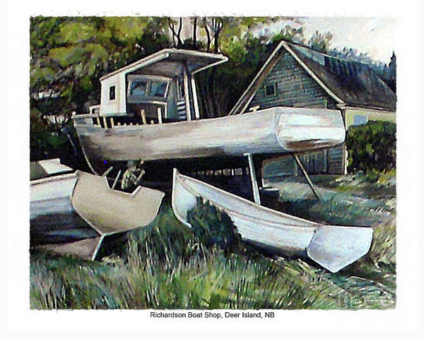 Painting - Richardson Boat Shop by Art MacKay