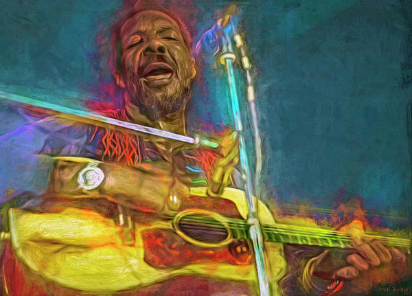 Funk Mixed Media - Richie Havens by Mal Bray