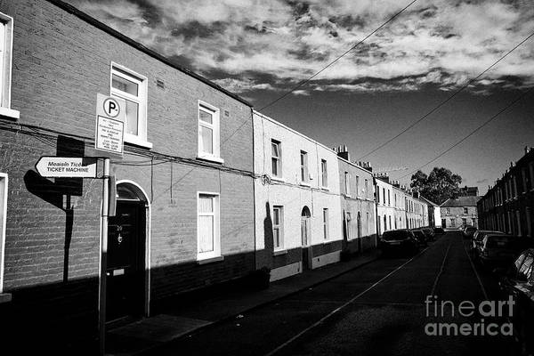 Wall Art - Photograph - richmond cottages terraced houses dublin 1 Dublin Republic of Ireland Europe This was one of the str by Joe Fox