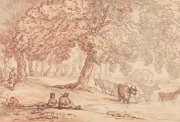 Drawing - Richmond Park by Thomas Rowlandson