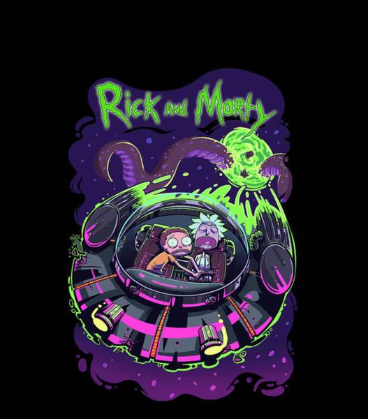 Wall Art - Digital Art - Rick And Morty 3 by Geek N Rock