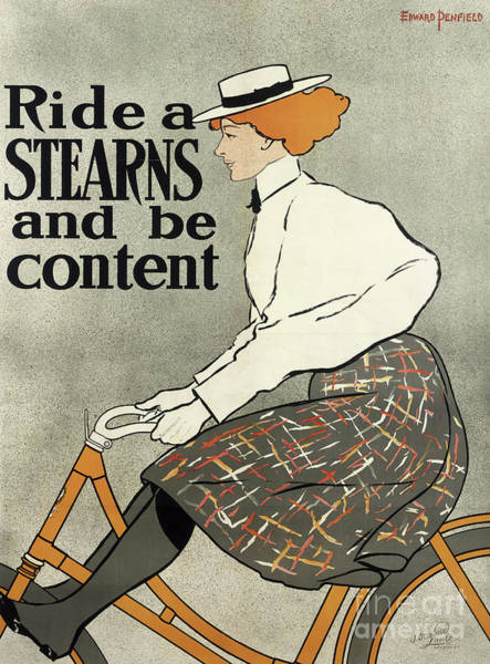 Wall Art - Drawing - Ride A Stearns And Be Content, Circa 1896 by Edward Penfield