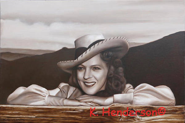 Wall Art - Painting - Ride 'em Cowgirl By K Henderson by K Henderson