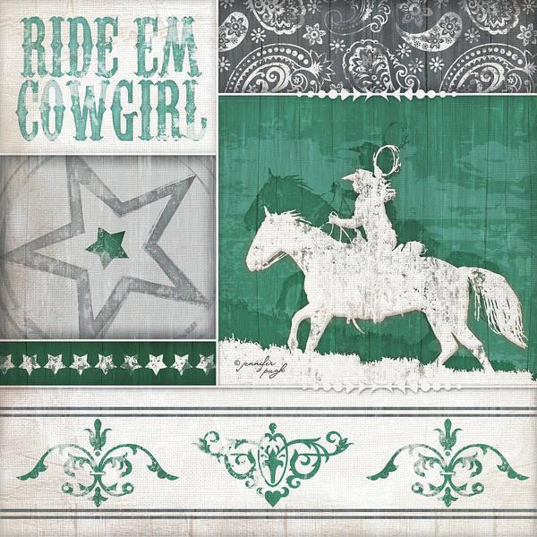 Wall Art - Digital Art - Ride 'em Cowgirl by Jennifer Pugh