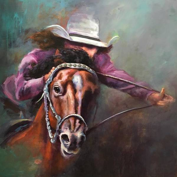 Wall Art - Painting - Ride Like The Wind by Pam Tullos