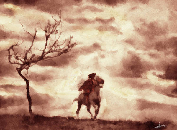 Wall Art - Painting - Rider On The Storm by George Rossidis