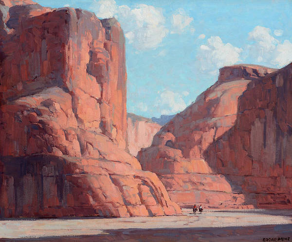 Wall Art - Painting - Riders In Canyon De Chelly by Edgar Payne