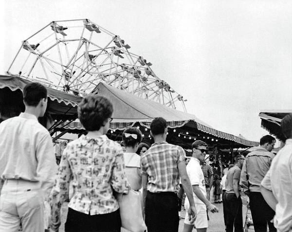 Painting - Rides At The State Fair, Ca. 1960 by Celestial Images