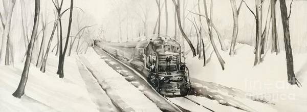 Painting - Ridin The Rails by Laurel Adams