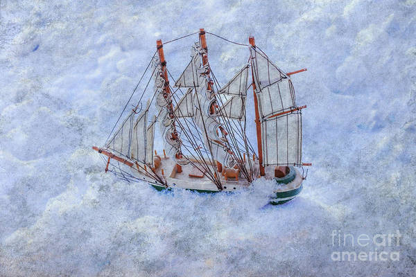 Frozen Lake Digital Art - Riding The Stormy Sea by Randy Steele